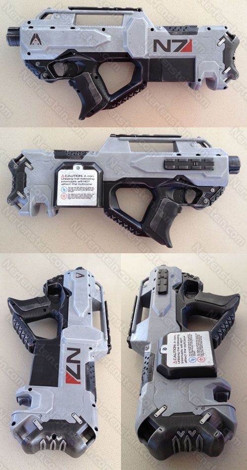 Retake Mass Effect 3 N7 blaster mod retook by *GirlyGamerAU on deviantART