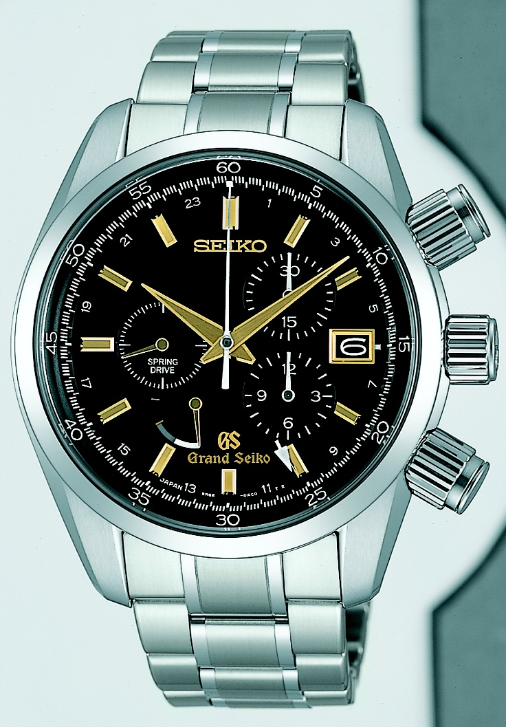 Grand Seiko, Spring Drive GMT Chronograph Watch, with 50 jewels and high intensity titanium, SBGC005  www.SeikoUSA.com