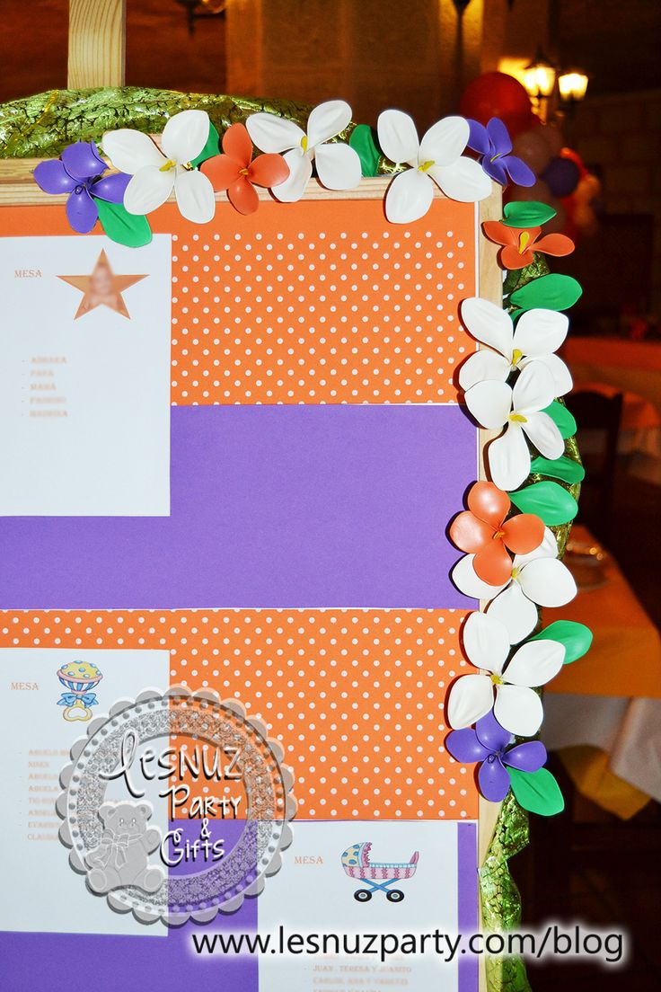 Flores de globos decoración seating plan - Seating plan flower decoration
