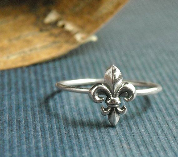 Sterling Fleur De Lis Ring Free Shipping by ModernMeetsWhimsy