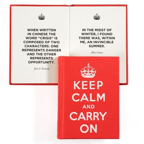 keep calm and carry on good advice for hard times offers