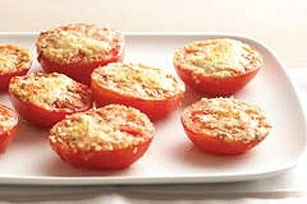 Easy Baked Tomatoes recipeEasy Baking Tomatoes, Kraft Recipe, Side Dishes, Tomatoes Recipe, Food, Parmesan Tomatoes, Healthy Living Recipe, Grilled Tomatoes, Tomato Recipes