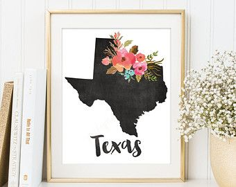 what if we found a cool print we liked, printed it in a 5x7 and had it matted? small texas wall art