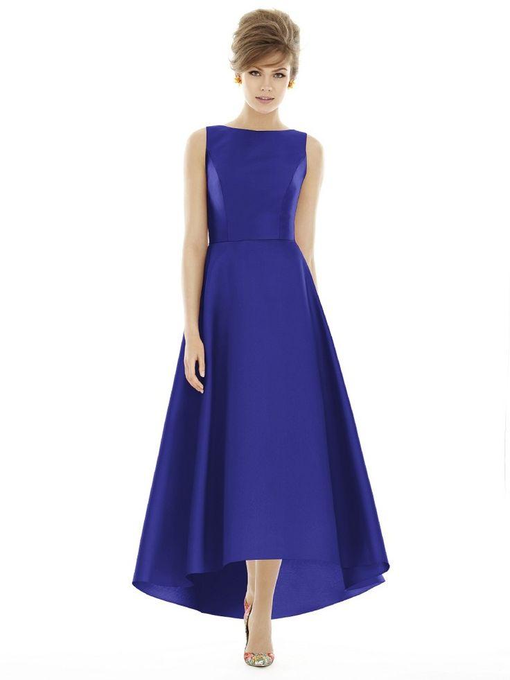 Alfred Sung D698 Long Bridesmaid Dress