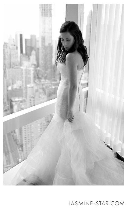 NYC Mandarin Oriental Wedding : Elyse+Andrew #bride #weddingdress