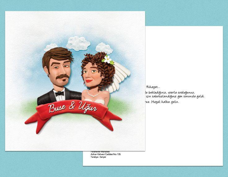 Buse ve Uğur'a özel olarak tasarladığımız davetiyemiz. #bentekim #bentekimdavetiye #davetiye #dugundavetiyesi #kisiyeozeldavetiye #ozeltasarimdavetiye #invitation #weddinginvitation #personalizedweddinginvitation #invitationdesign