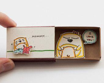 Lindo divertido estímulo tarjeta Matchbox / caja de por shop3xu