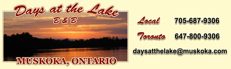 Luxury Bed and Breakfast Rooms | Muskoka ON Waterfront Inn - Days at the Lake. I like this place, never been to a B&B