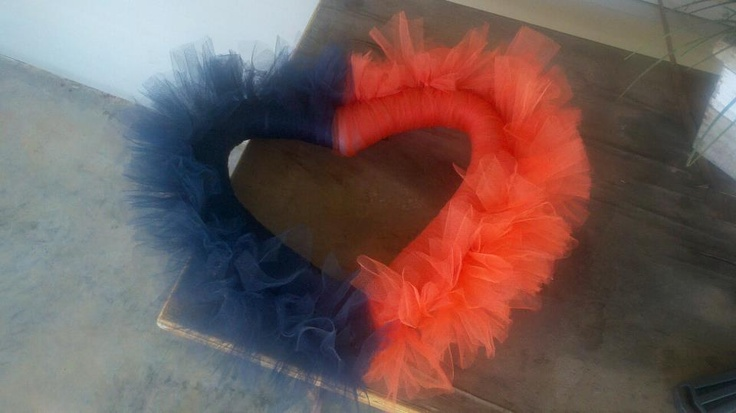 Auburn Valentines Wreath! $15.00  Find us on Facebook....Lime Lizard Gifts!Valentine Wreath