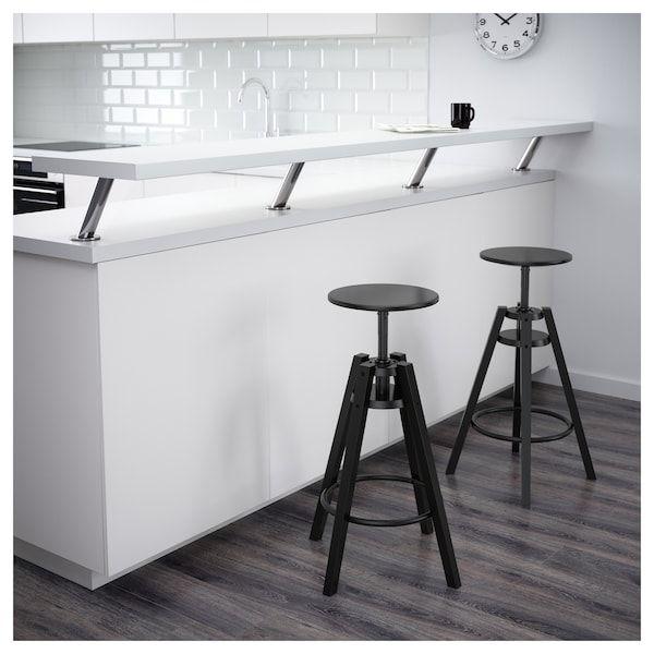 DALFRED Bar stool, black IKEA in 2020   Bar stools, Ikea