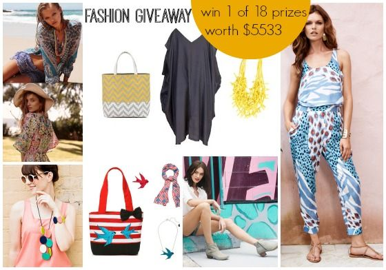 Win one of 18 end-of-summer fashion prizes from these independent Australian designers and retailers