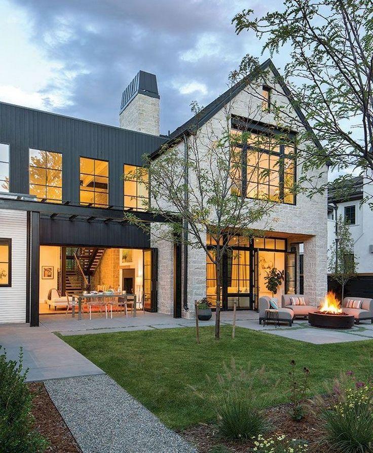 Modern Farmhouse Exterior Designs 11: 53+ Top Modern Farmhouse Exterior Design Ideas