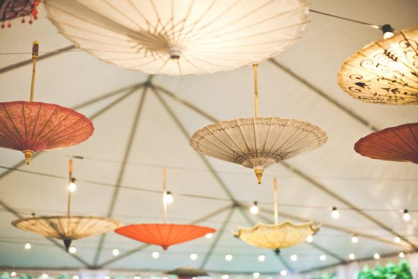 parasols over the dance floor