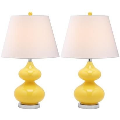 Theda lamp buttercup set of 2 lulu and georgia