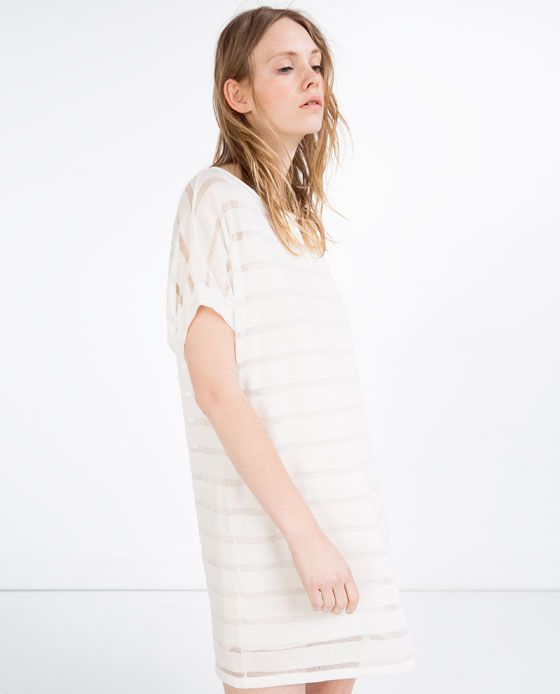 image 3 of dress with sheer details from zara summer