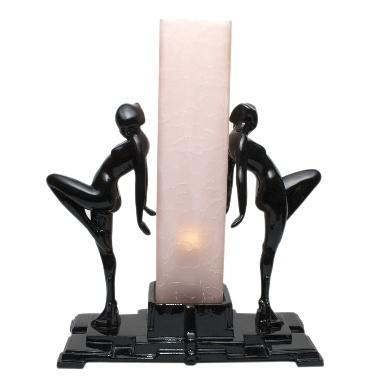 Art deco lady lamp.