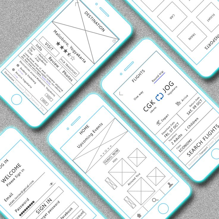 """Check out this @Behance project: """"Wireframe - Travel App"""" https://www.behance.net/gallery/46706739/Wireframe-Travel-App"""