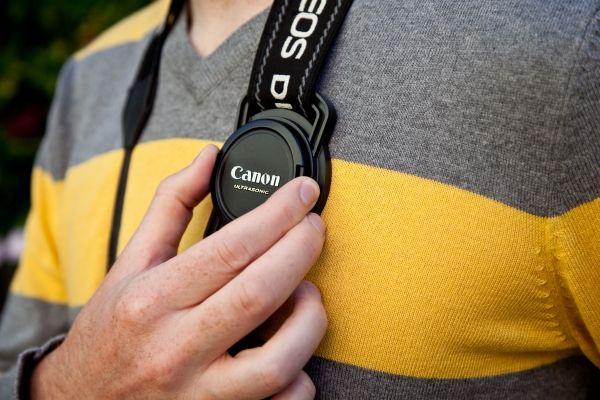 The Lens Cap Strap Holder