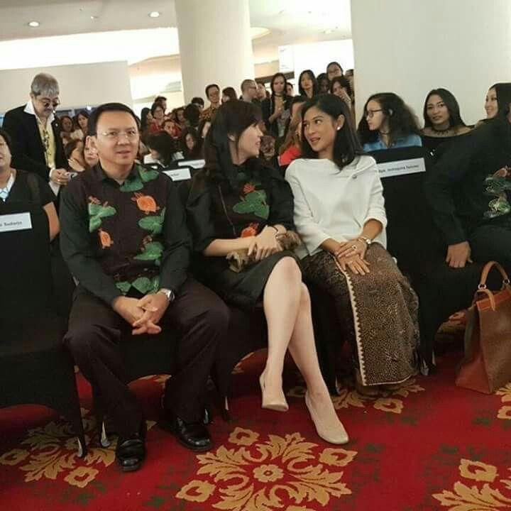 Favorite couple.. Beside elegant actress.. Mr.  Basuki Tjahaja Purnama,  Mrs. Veronica Tan and lovely Dian Sastrowardoyo