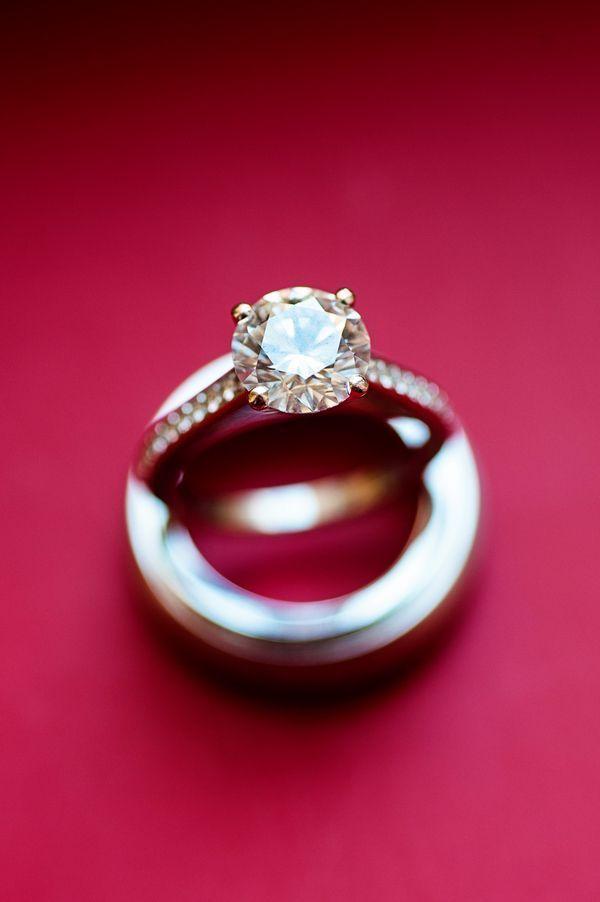 Modern Washington, DC Wedding from Atrendy Wedding at Andrew Mellon Auditorium - MODwedding  #engagement #ring