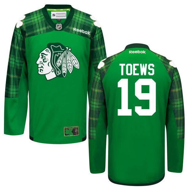 Youth Chicago Blackhawks 65 Andrew Shaw Green Reebok Hockey Jersey 2016  Mens Chicago Blackhawks Jonathan Toews 19 St. Patricks Green Tartan  Practice Jersey ... e27f0d444