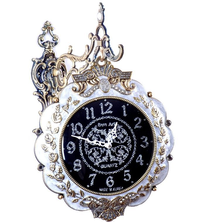 living room wall clock decoration doublesided hanging time wedding gift