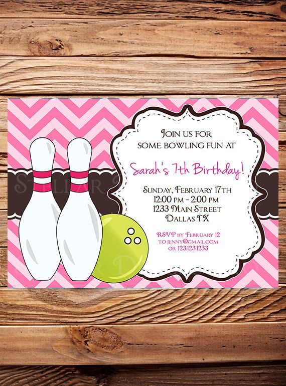 The  Best Bowling Birthday Invitations Ideas On