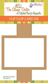 This die is for a flip flop card