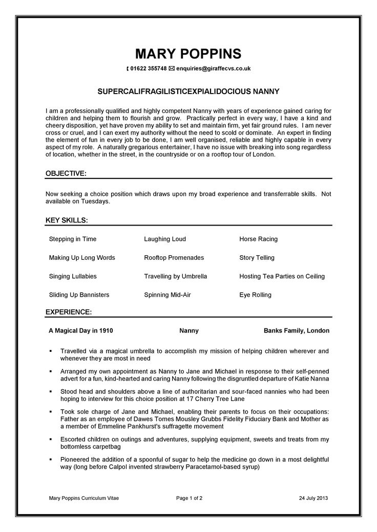 Nanny Job Description for Resume Best Of Nanny Resume and