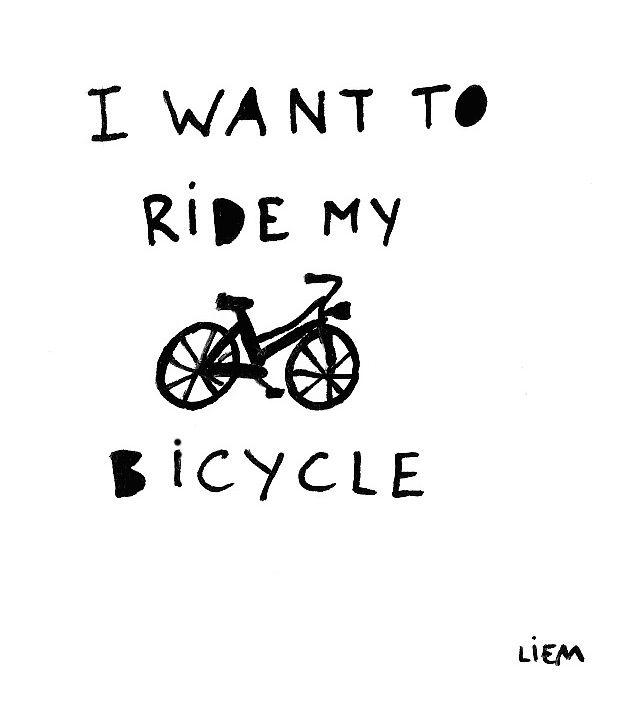 """""""I wanna ride my biiiiike!"""" :) Bicycle Race- Queen"""