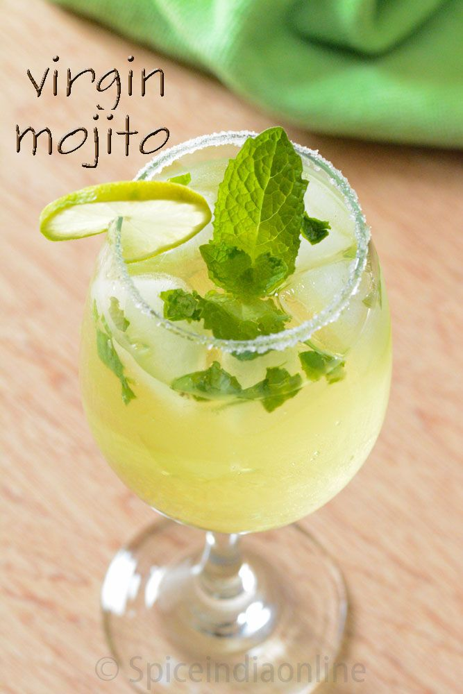 Virgin Mojito, Non Alcohol Summer drinks, Mint Mojito