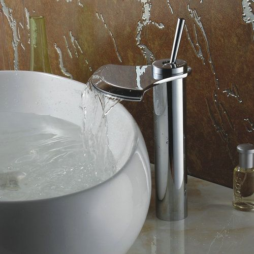 Chrome Finish Single Handle Waterfall Bathroom Sink Faucet TQ3001H