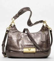 Coach Kristin Metallic Leather Hippie 18809