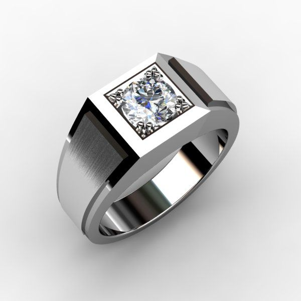 Mens Wedding Band with Diamond http://karatjewelrygroup.com/