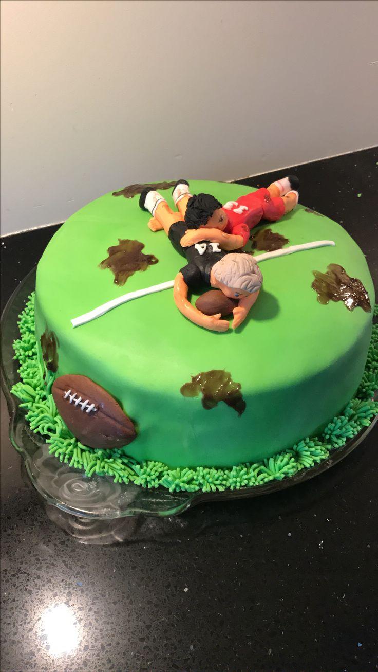 Rugby taart Christian 14 jaar