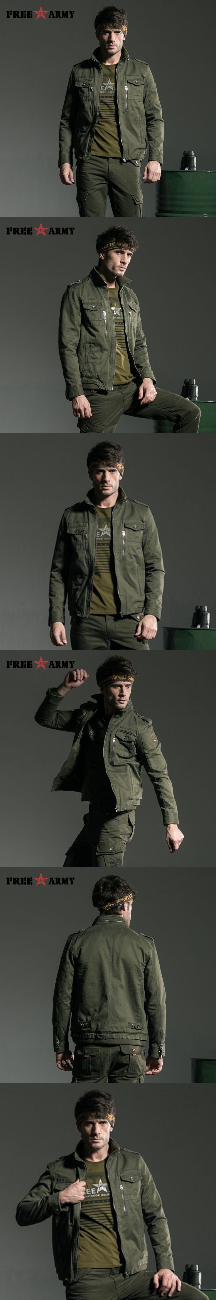 Army Coat Military Jacket Men European Style Metal Zipper Mens Coat Military Jackets cotton Warm Autumn Plus size MS-6190A