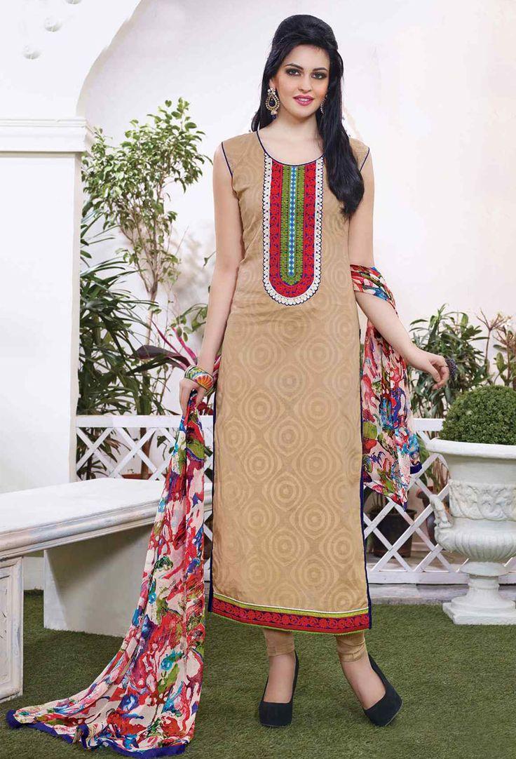 64 best Cotton Salwar Kameez images on Pinterest   Cotton salwar ...