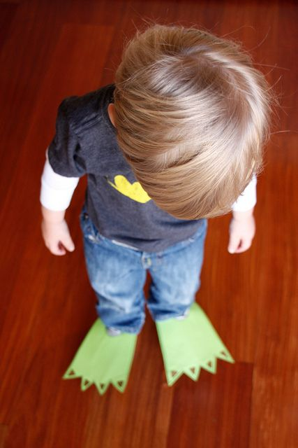 DIY dinosaur feet - doing this tomorrow!