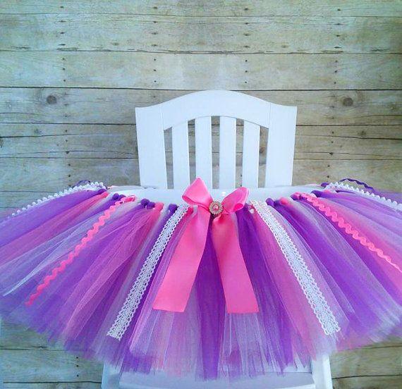 Pink and Purple High Chair Tutu Princess by GigglesandWiggles1