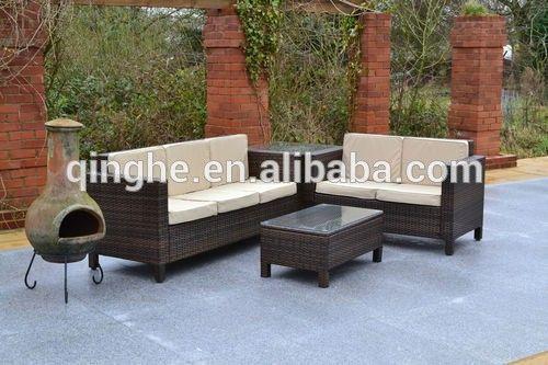meubles de jardin et de plein air gros en rotin extérieur canapé 7 places