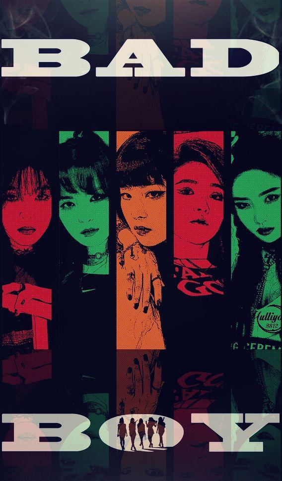 RED VELVET BAD BOY Wallpaper Badboy Irene Joy Kpop Red Velvet Wendy Yeri Seulgi Lockscreen Reveluv