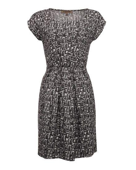 Tile Print Ruched Dress £119.00 http://www.jigsaw-online.com/tile-print-ruched-dress//jigsaw-clothing/fcp-product/7197 #jigsawessential