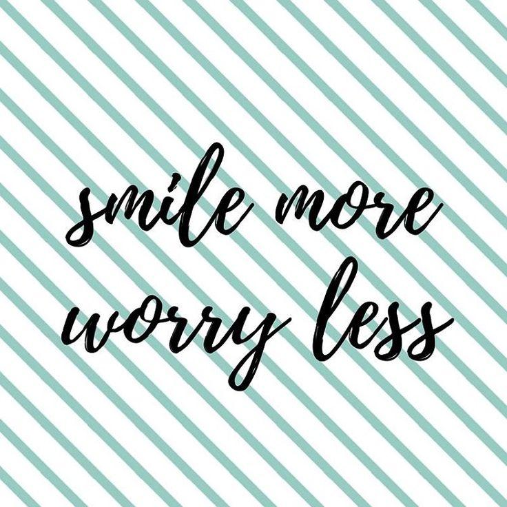 Smile more, worry less! - Instagram @Stadsblogger