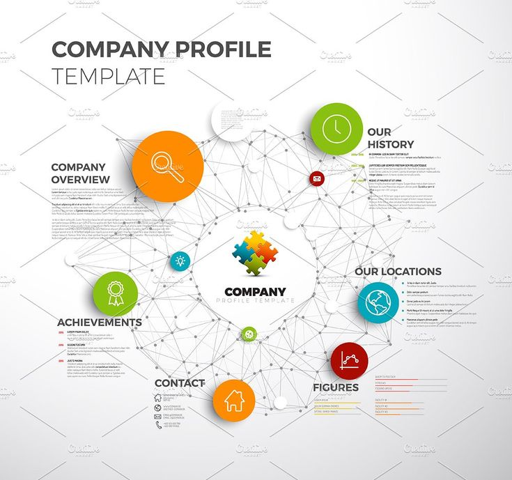 Company Profile by Orson on @creativemarket