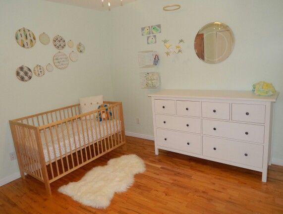 Ikea Hemnes Dresser And Gulliver Crib Our Sweet Baby Boy Room Decor Cribs Rooms