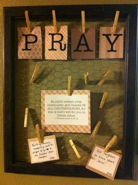 I really want a prayer board...this one is so fun, but maybe high maintenance if you dont have paper on hand?