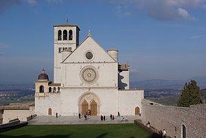 Giotto et Saint François sur les fresques de la basilique d'Assise - Arcobaleni