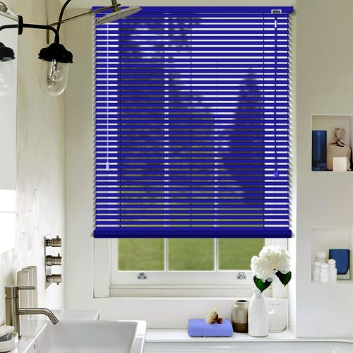 Amazing A Deep Blue Aluminium Venetian Blind In A Matt Finish, Available In A 25mm  Slat