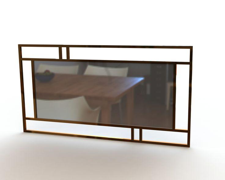 Espelho: Jeffers Materiais: Bronze/Latão