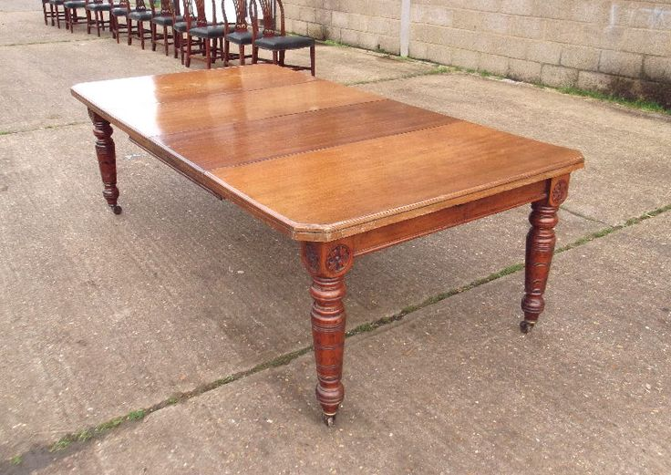 Best Dining Tables Images On Pinterest Antique Furniture - 8ft dining table